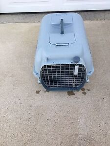 Dog carrier/kennel comes with leash and dishes
