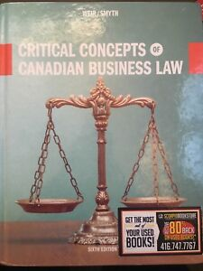 Canadian Business Law Textbook - 6th Edition