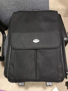 Toshiba up to 17 inch rolling laptop backpack bag like new