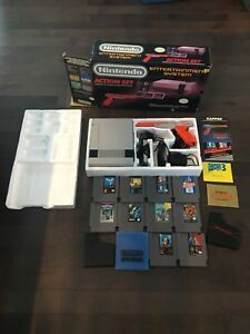 Original Nintendo in box with 10 games. Nes