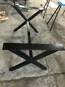 Heavy duty metal table legs and base for sale