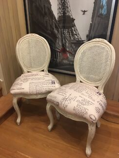 2 x French Provincial Chairs