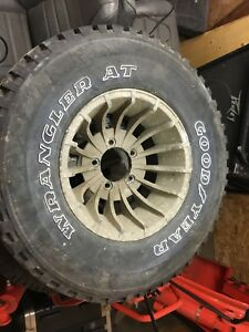 Jeep cj Turbine aluminum rims and tires