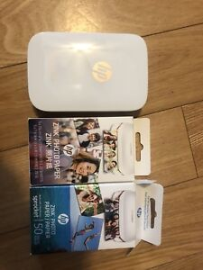 HP sprocket printer with paper