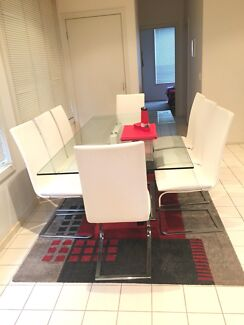 Dinning table 8 Seater glass