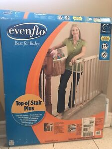Evenflo baby gates (2) and banister attachment