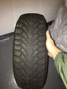 Excellent condition Goodyear winter tires.  Size: 195/55R15.