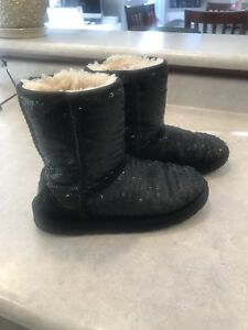 Sequin Ugg boots size 2