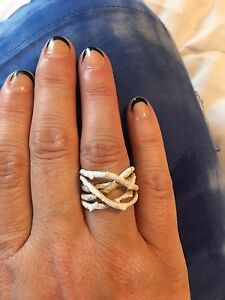 Beautiful Brushed Sterling Silver Ring