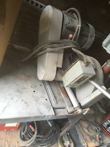 Large steel chop saw with table - 600V