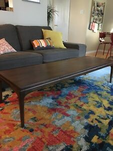 Walnut vintage coffee table