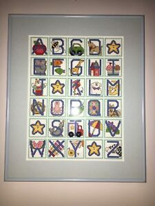 Gorgeous Cross Stitched Alphabet Picture