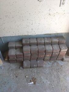 Concrete step, slabs and bricks
