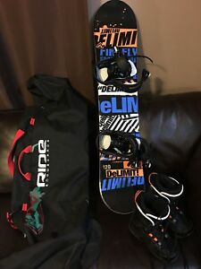 Kids Snowboard, Bindings, Boots and Bag