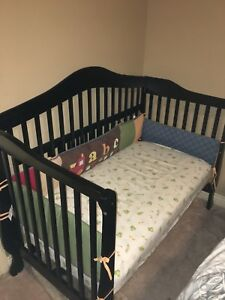 Crib + mattress + bedding