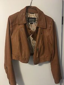 Mackage Crop Leather Jacket