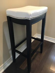 Modern bar stools with nailhead trim