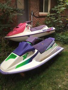 Two seadoo hulls
