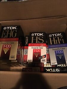 VHS blank tapes