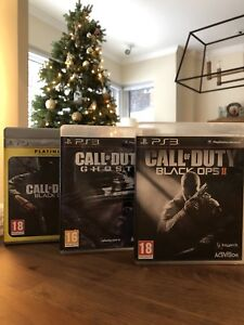 Ps3 Call Of Duty games : Black ops 1, Black ops 2 and Ghosts