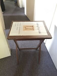 Folding trade table and bed Warwick Farm Liverpool Area Preview