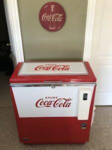 Coca Cola Cooler Vintage (It Works)
