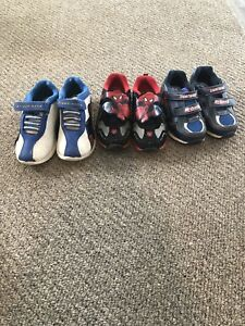 3 pairs of toddler boys running shoes - size 9.5 and 11