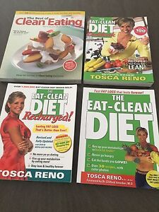 4 clean eating cookbooks/how to books