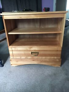 Solid wood cabinet with drawer