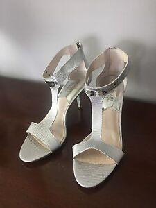 Michael Kors Silver Leather Shoes - 9.5 NEVER WORN