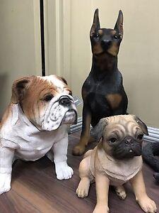 Dog statues life size medium sizes animal pet sculpture