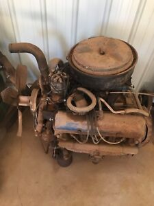 Old ford motor ( complete ) & transmission