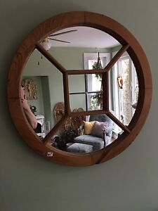 Beautiful Round pine mirror