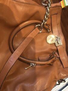 Michael Kors purse- large leather Hamilton bag