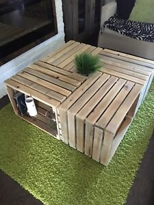 Farm Crate Style Coffee Table