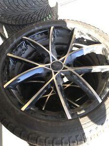Winter wheels tires