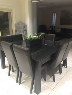 8 Seater Dining Table, Hall Table & 2 lamp tables