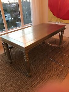 Silver wrapped harvest style table