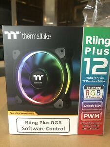 Thermaltake Riing Plus 12 LED RGB TT lot de 5