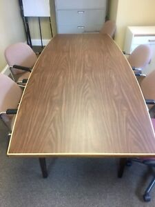 8 ft. x 4 ft. boardroom table. Need gone ASAP.
