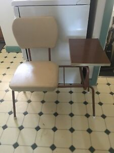 Vintage School Chair with Side Desk