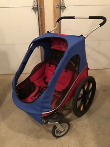 Chariot bike trailer with stroller kit