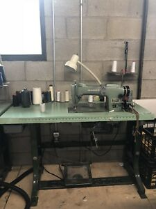 Japanese Industrial Cutting Table, Sewing Machine, Serger, racks
