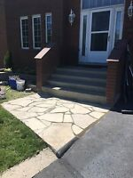 Brick, stone, concrete and parging