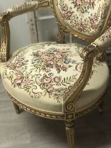 Gold Frame Chairs from France