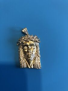 10K gold Diamond Jesus head