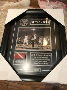 Toronto Raptors Framed Picture w Authentic Hardwood floor 18x15""