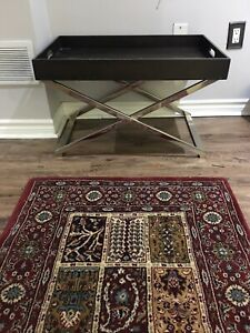 West Elm Coffee/Side Table and Rug