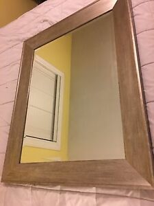 Large mirror with silver frame