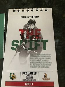 Moosehead Tickets Jan 18th Lower Bowl Section 10